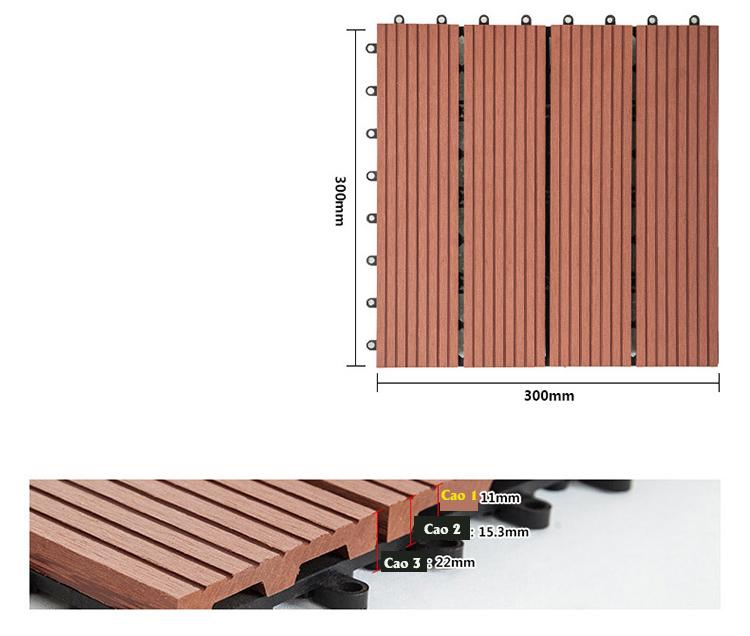 Sàn gỗ nhựa ngoài trời 5